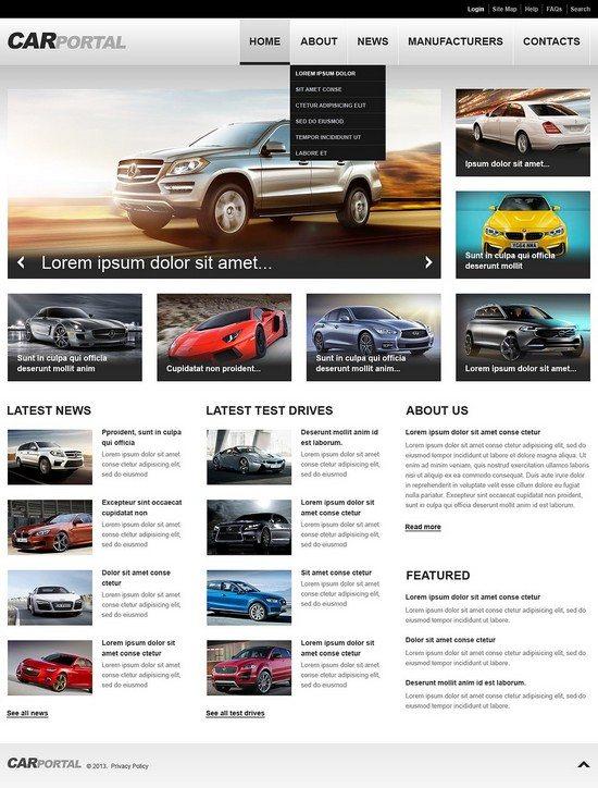 Car Portal Responsive Website Template