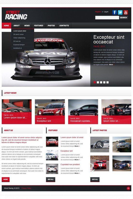 Car Racing Responsive Website Template