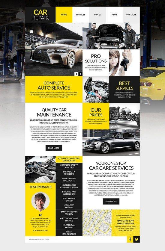 Car Workshop WordPress Theme