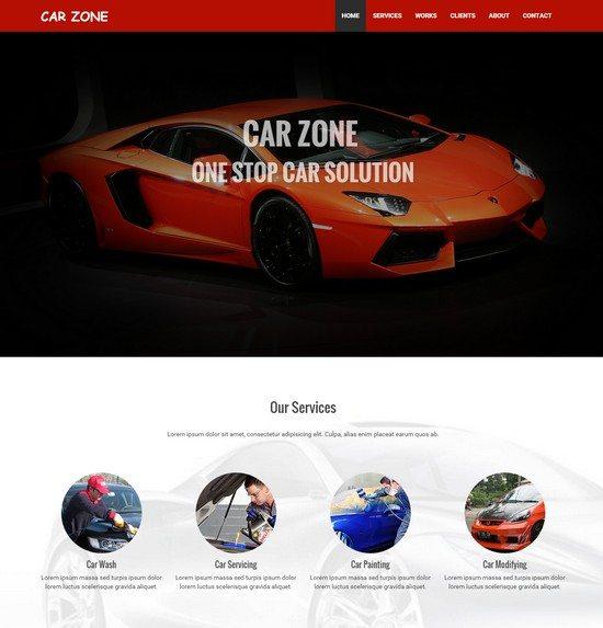 Car Zone Automobile Bootstrap Responsive Web Template