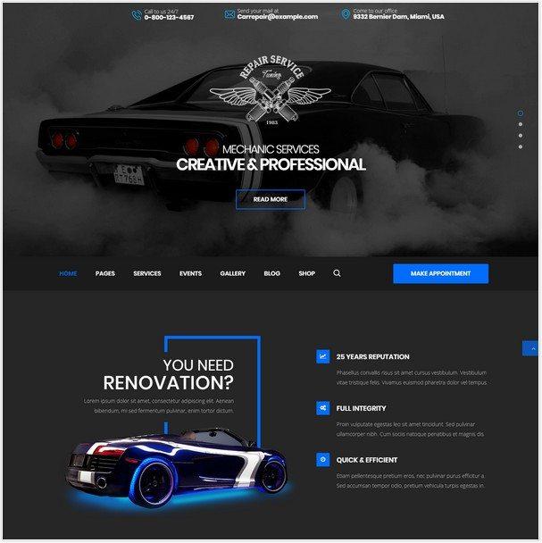 CarRepair - Auto-Tuning WordPress theme