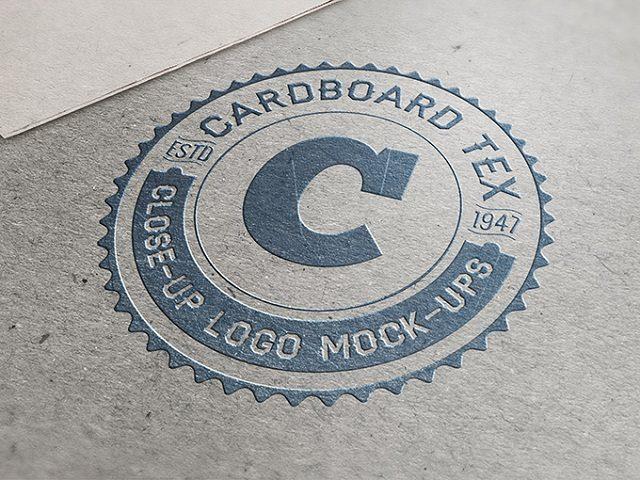 Cardboard Tex Close-Up Logo Mock-ups