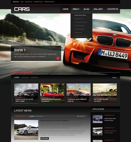 Cars Responsive WordPress Theme