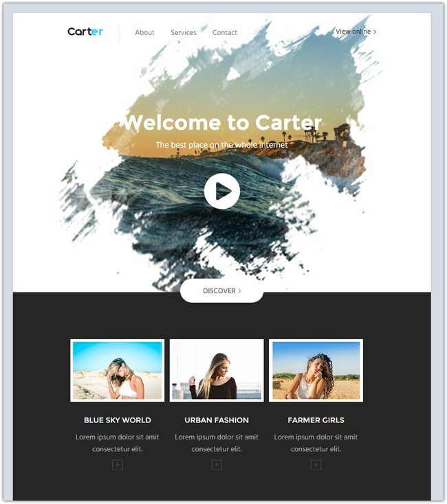 Carter - HTML Email Template + Builder 2.0