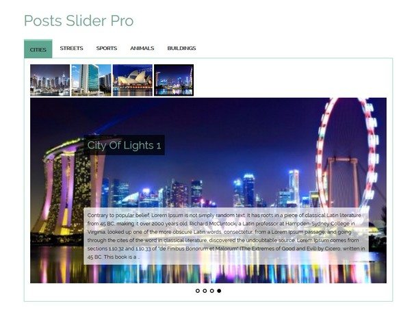Category Posts Slider Pro