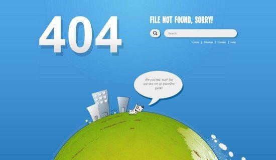 Cerberus – Premium, handmade 404 HTML Template