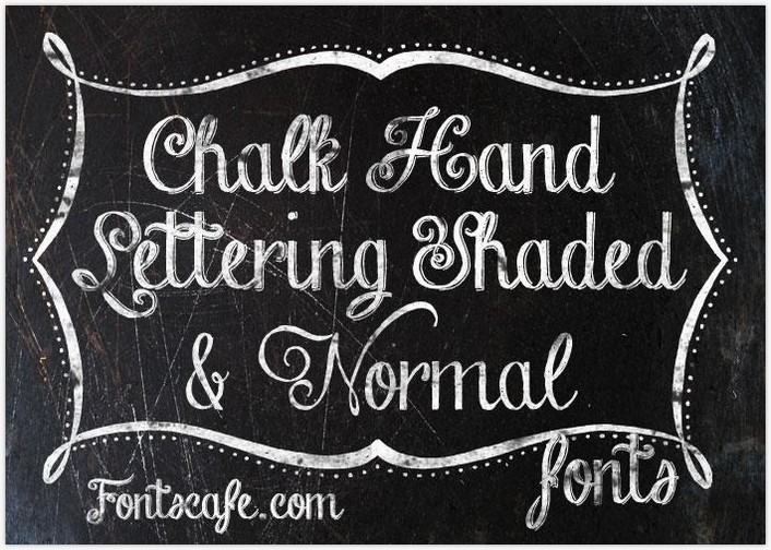 Chalk-hand-lettering-shaded_dem fontby FontsCafe