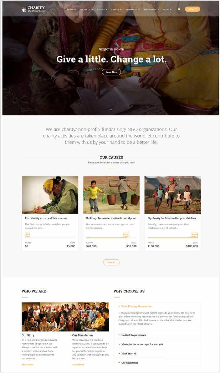 Charity WordPress Theme Charity WP
