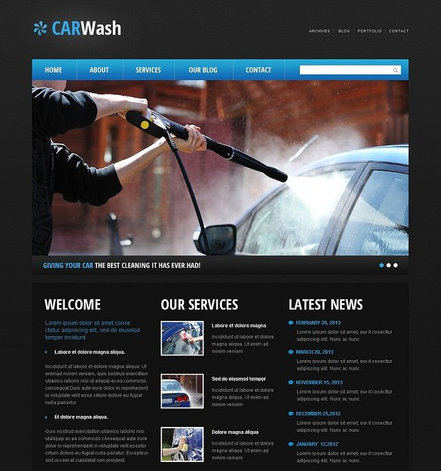 Cherry Car Wash WordPress Themes