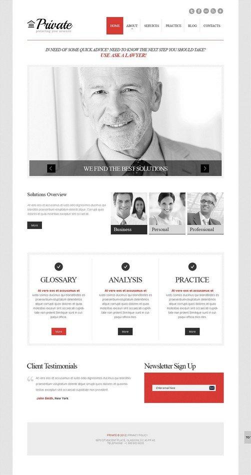 Cherry Law Firm WordPress Theme