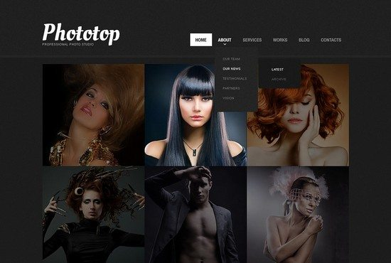 Cherry Photo Studio WordPress Theme