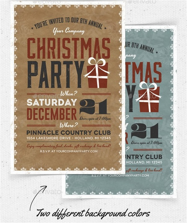 Christmas Party Flyer & Invitation