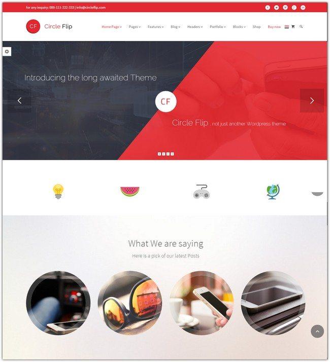 Circle Flip - Responsive WordPress Multipurpose Theme