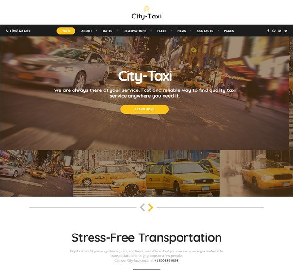 City Taxi - Taxi Service Responsive Website Template