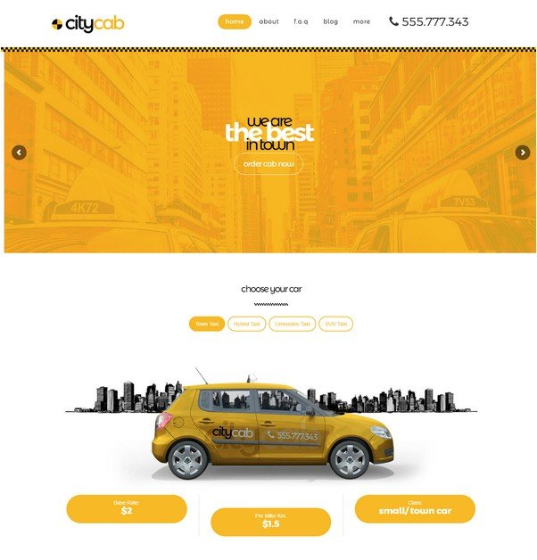 CityCab - Taxi Company & Taxi Firm WordPress Theme