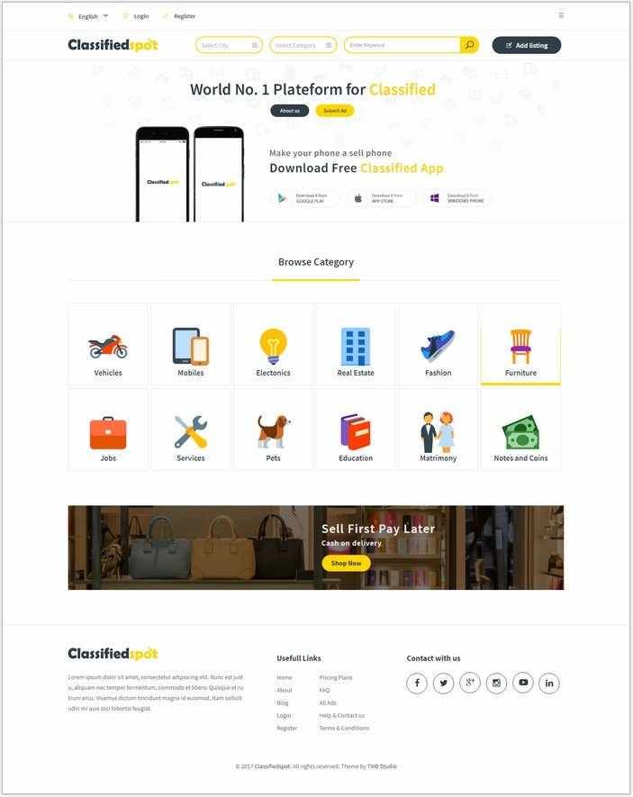 Classified Spot Html Template
