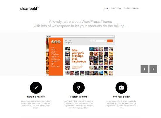 CleanBold WordPress Theme