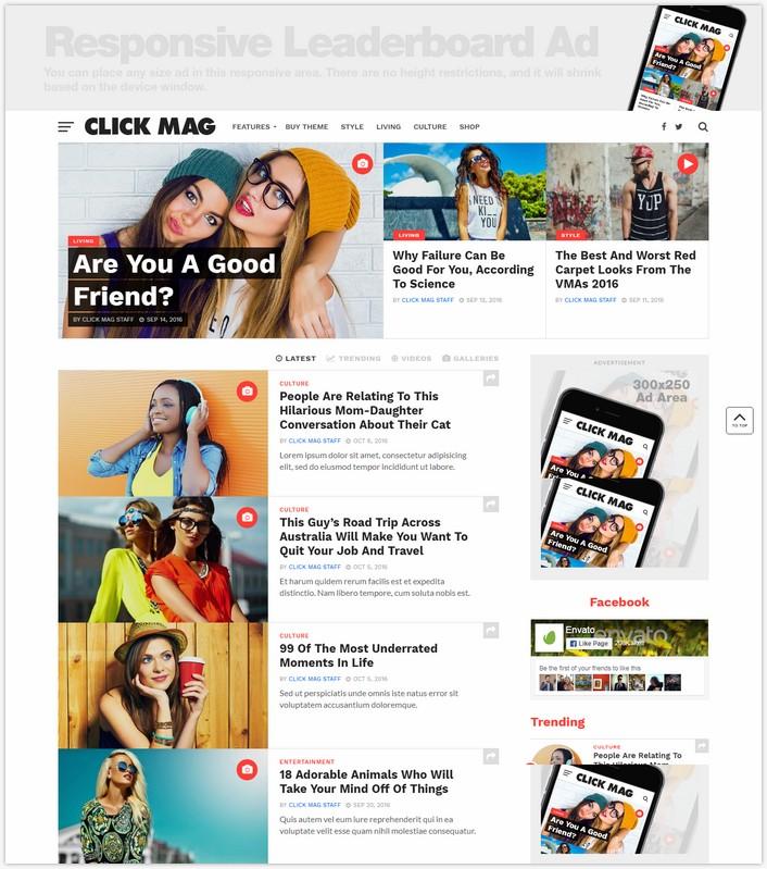 Click Mag - Viral WordPress Magazine Theme