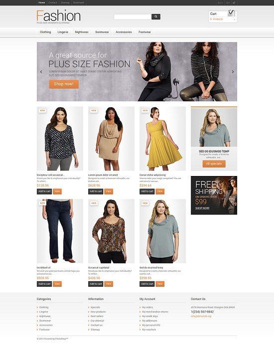Clothes for Plump Women PrestaShop Theme