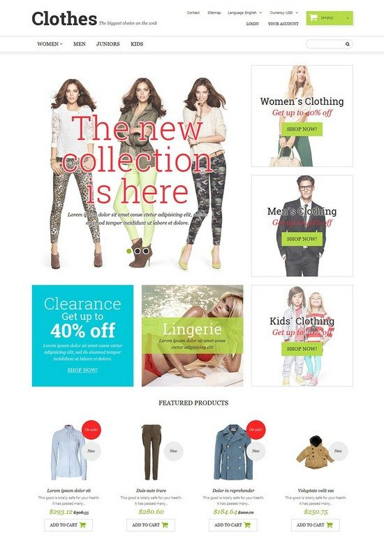 Clothing Fashion PrestaShop Theme