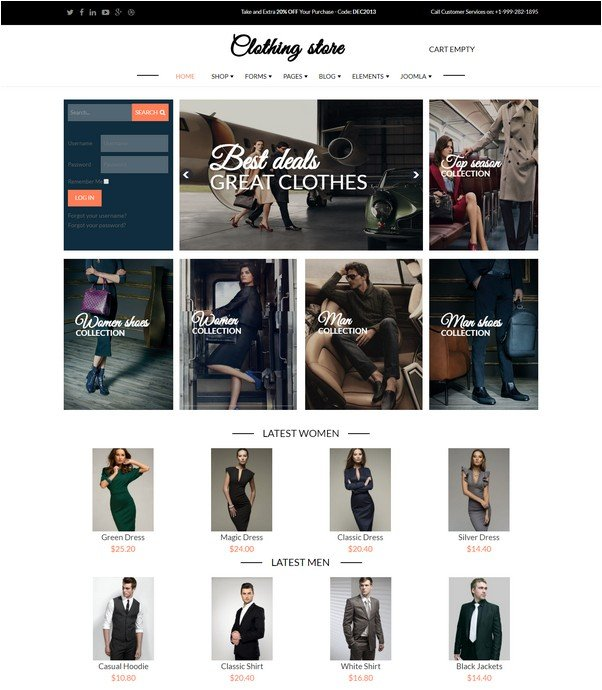 Clothing Store - Joomla Virtuemart template
