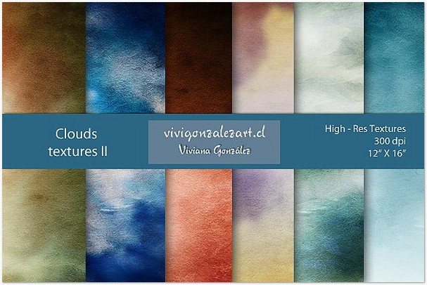 Clouds textures II