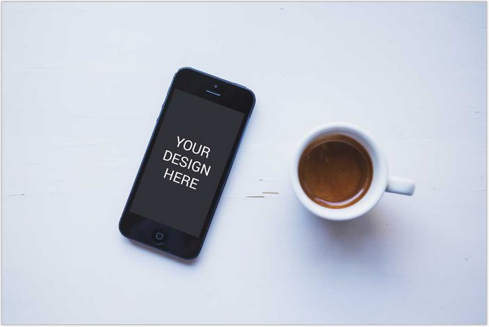 Coffee Iphone 6 Mockup