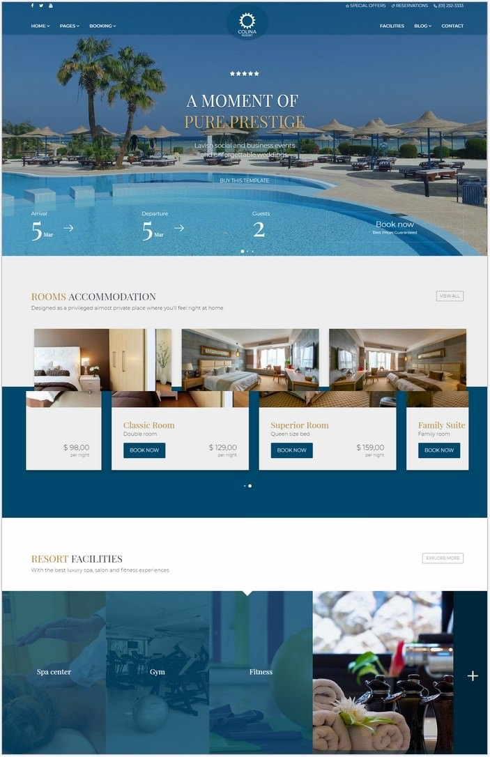 Colina - Hotel HTML Template