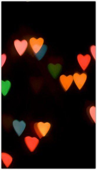 Colorful Love Light In Dark