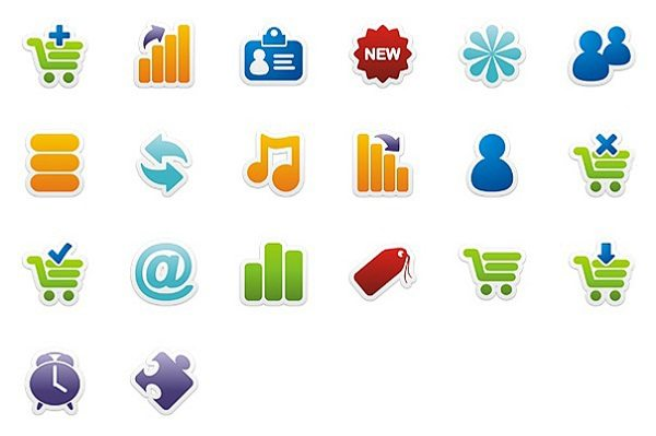 Colorful-Stickers-Icon-Set