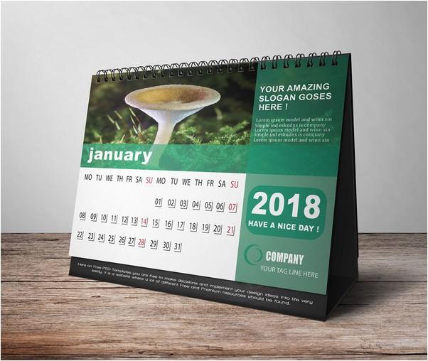 Company Desk Calendar 2018