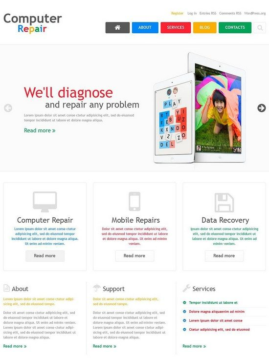 Computer Repair Company WordPress Theme