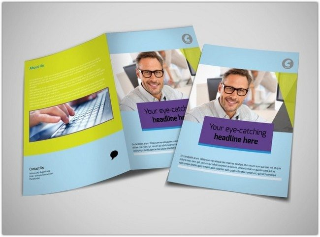 Computer Services & Consulting Brochure Template