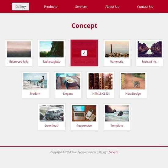 Concept HTML5 Layout