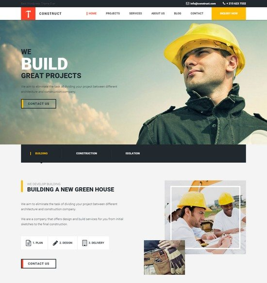Construct Building and Construction HTML Template