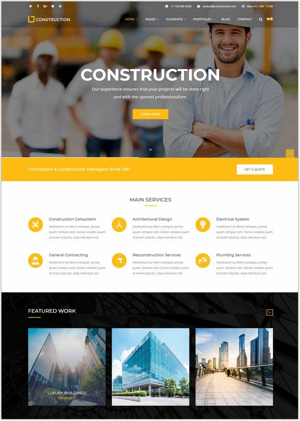Construction - Construction Company Template