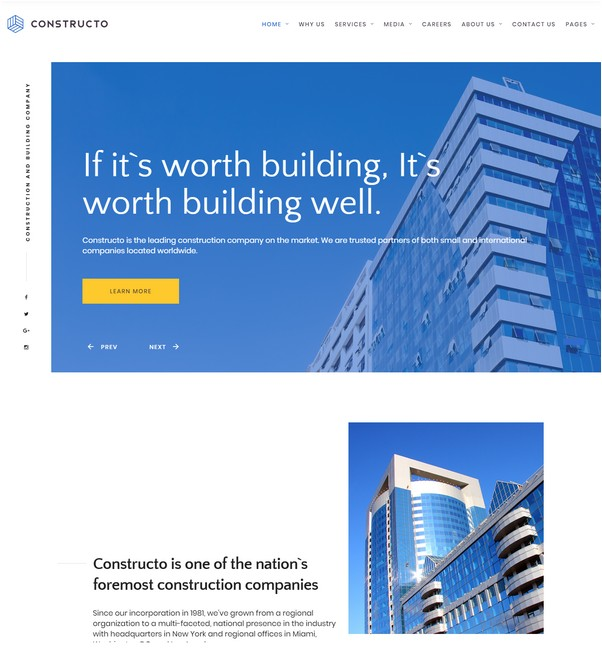 onstructo - Architecture & Construction Company Responsive Website Template