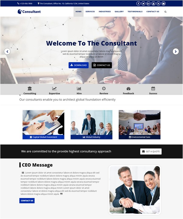 Consultant - OnePage Multi-Purpose HTML Template