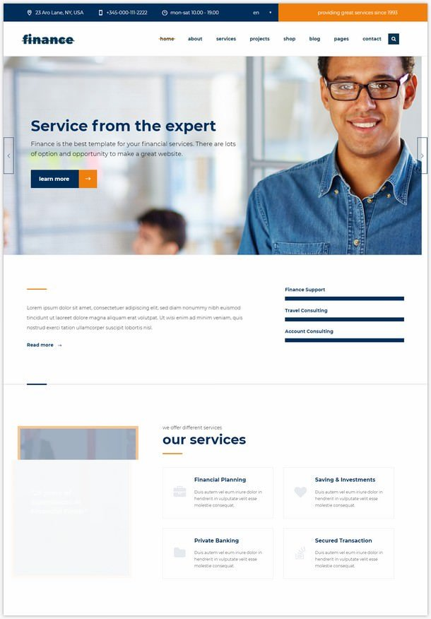 Consulting Finance Business - WP theme Finance-541465