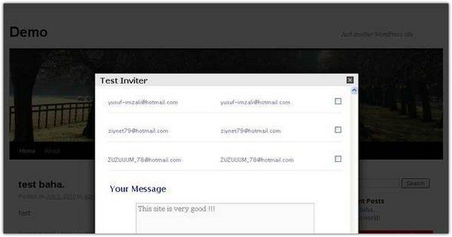 Contact – Friend Inviter Gold plugin & Widget