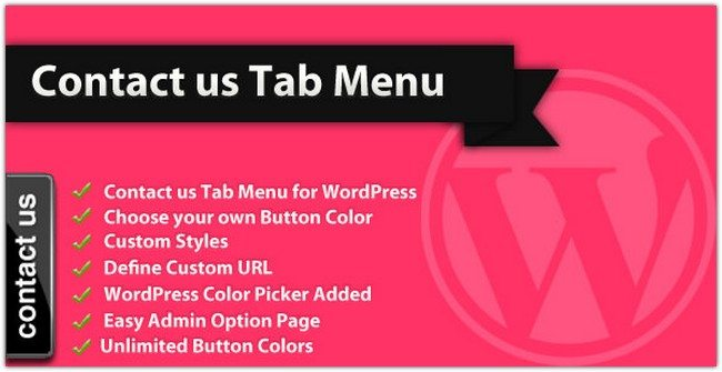 Contact us Tab Menu – WordPress Plugin