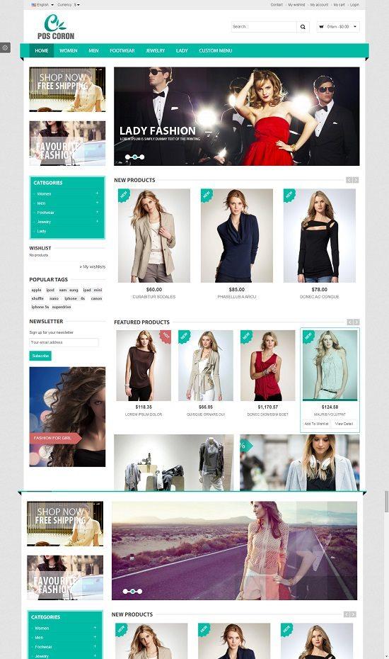Coron - Fashion Responsive Prestashop Theme