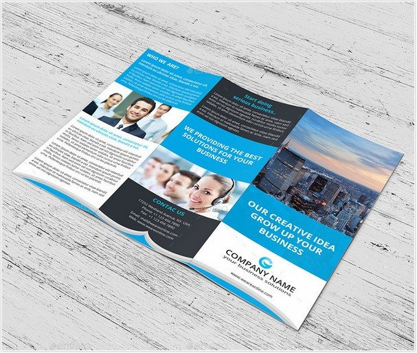 Corporate Marketing Tri-Fold Brochure