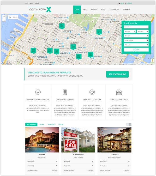 CorporateX – Real Estate/Corporate HTML5 Template