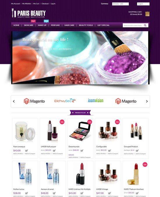 Cosmetic Store Magento Theme