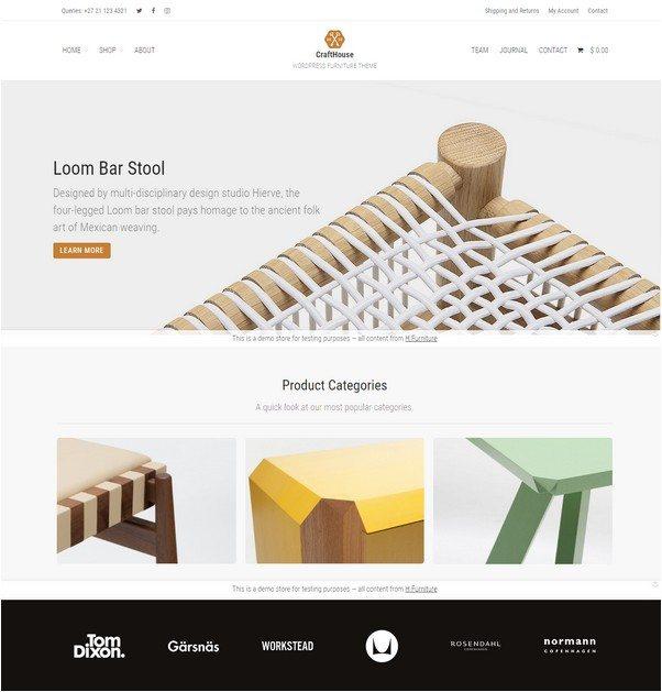 Crafthouse - WooCommerce Furniture Theme
