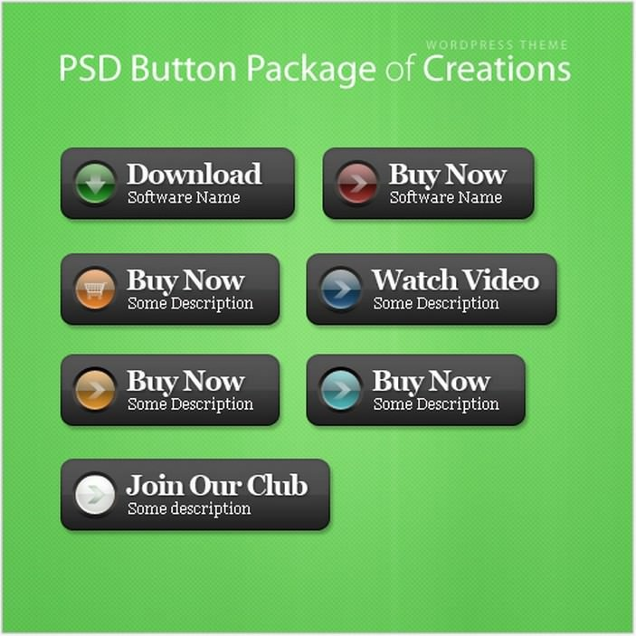 Creations PSD Button Package