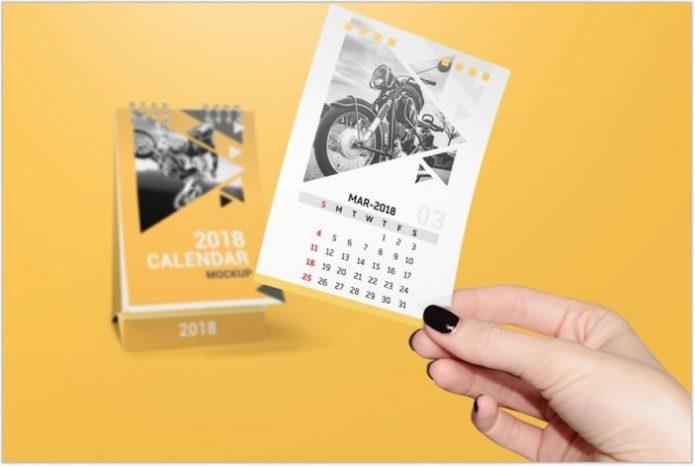 Creative Calendar Mockup