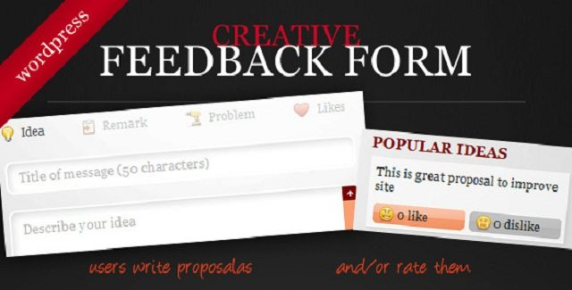 Creative Feedback Form with Voting System free