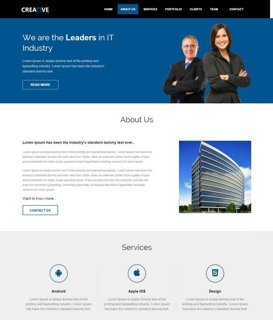 Creative Free Responsive html5 Business Template